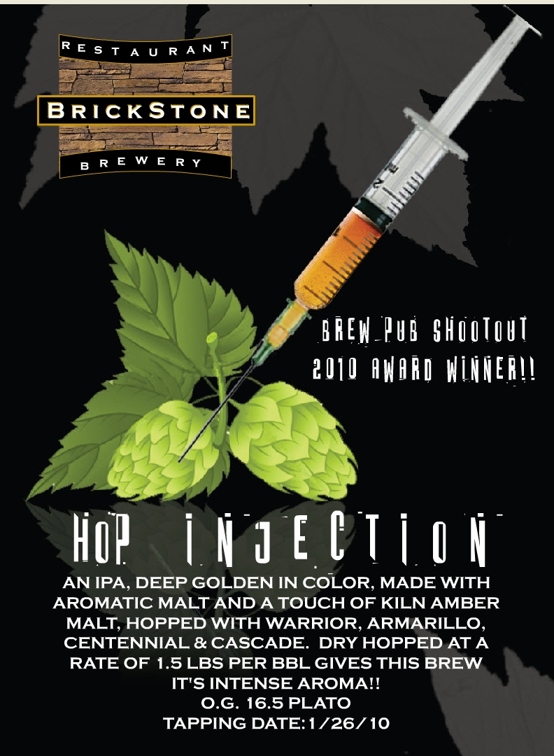 New Release From BrickStone Brewery – Hop Injection IPA