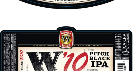 Widmer Brothers Tribute to Traditional IPA... W'10 Pitch Black