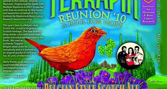 Reunion '10 – A Beer For Hope Belgian Style Scotch Ale
