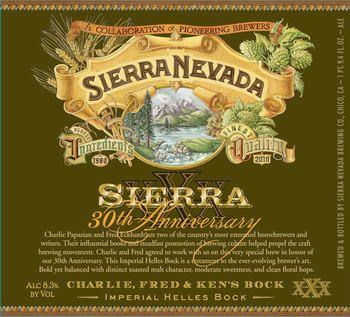 Sierra Nevada 30th Anniversary Charlie, Fred