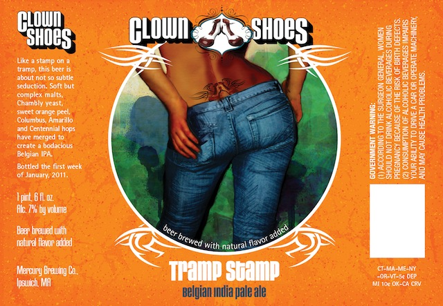 Clown Shoes Beer Tramp Stamp