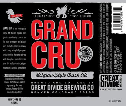 Great Divide Grand Cru