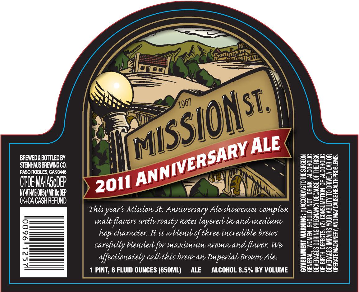 Mission Street 2011 Anniversary Ale