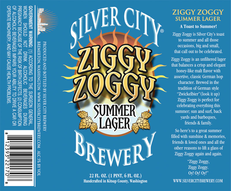 Silver City Brewery - Ziggy Zoggy Summer Lager