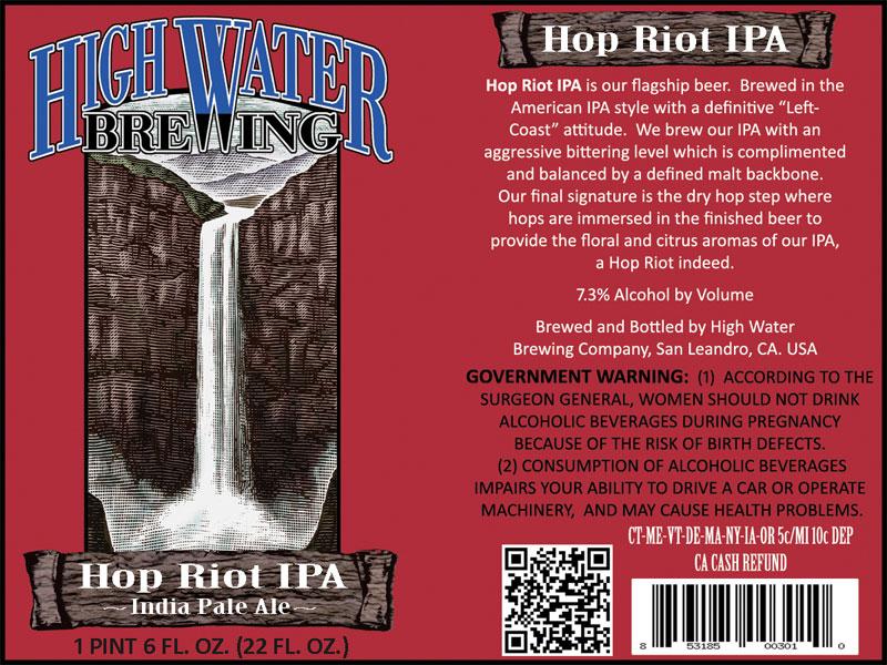 High Water Brewing - Hop Riot IPA