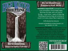 High Water Brewing - RetribÜtion Imperial IPA