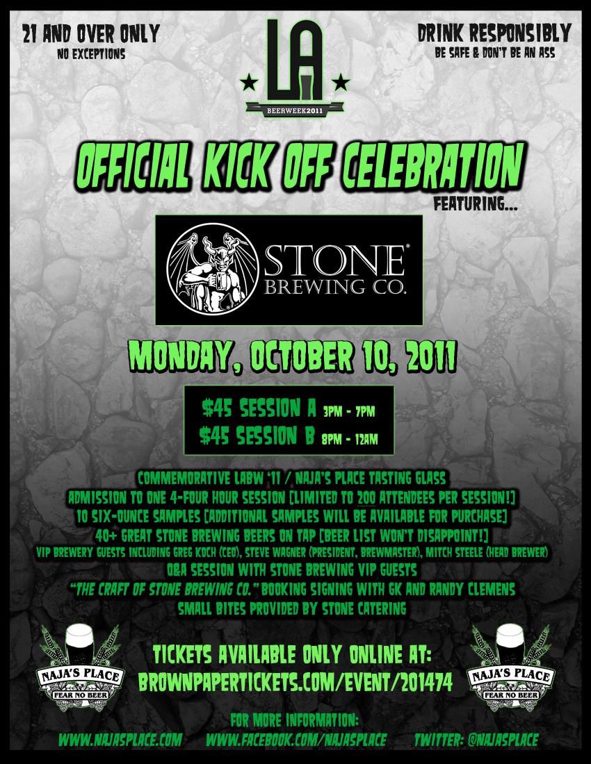 LA Beer Week 2011 Stone Najas Poster