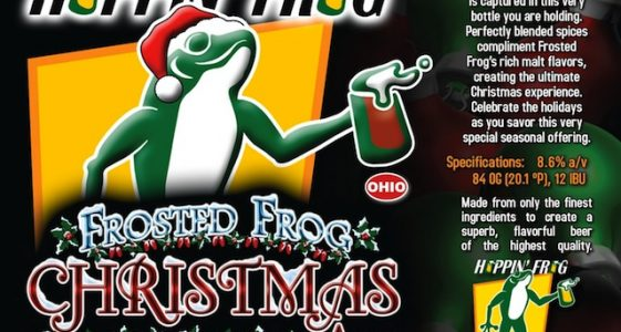 Hoppin Frog Frosted Frog Christmas Ale