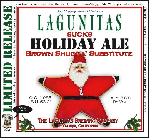 Lagunitas Puts Brown Shugga On The Bench This Year, Replaces It With Teh Suck
