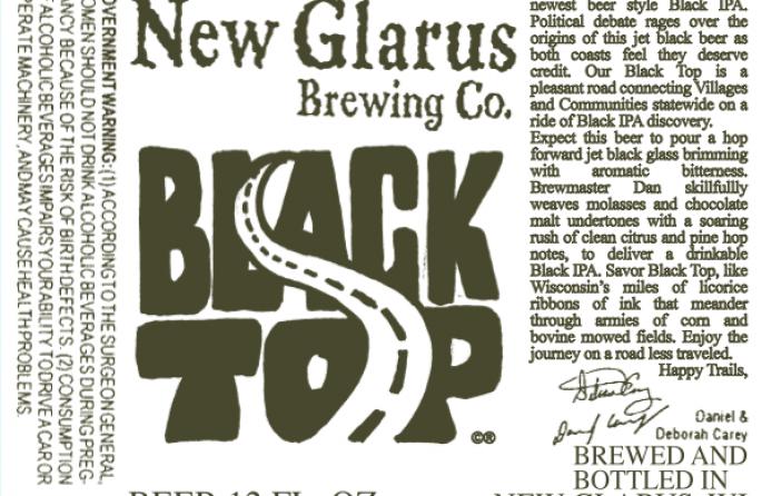 New Glarus Black Top IPA