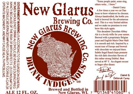 New Glarus Thumbprint Series Chocolate Abbey Ale