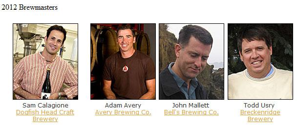 Big Beers, Belgians and Barleywines Festival 2012 Brewmasters