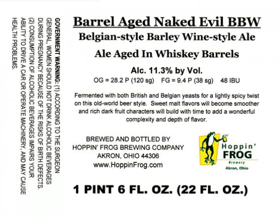 Hoppin Frog Barrel Aged Naked Evil BBW