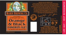 Marin Orange and Black Congrats Ale