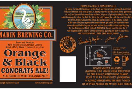 Marin Orange and Black Congrats Ale