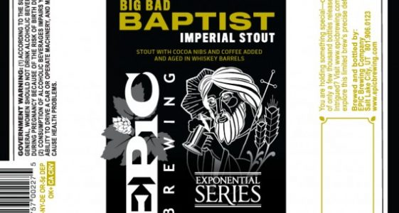 Epic Brewing - Big Bad Baptist Imperial Stout