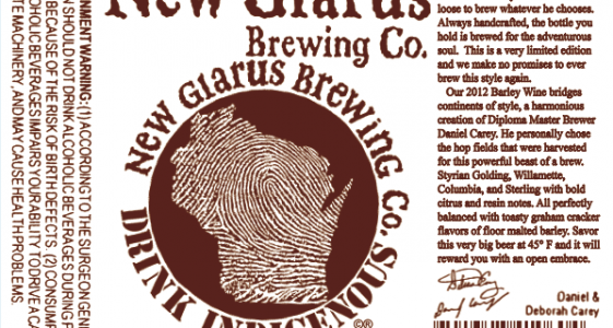 New Glarus Barley Wine
