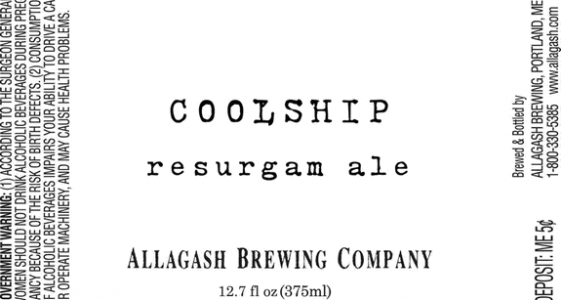 Allagash Coolship Resurgam