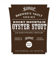 Rocky Mountain Oyster Stout label