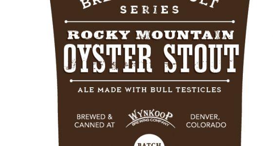 Rocky Mountain Oyster Stout label