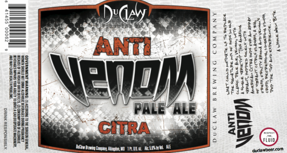 Anti Venom Citra 22 oz Label