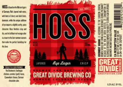 Great Divide Hoss Rye Lager