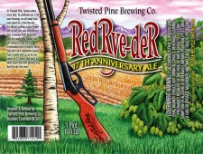 Twisted Pine Brewing - Red Rye-der 17th Anniversary Ale