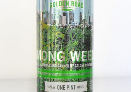 Golden Road Wolf Among Weeds