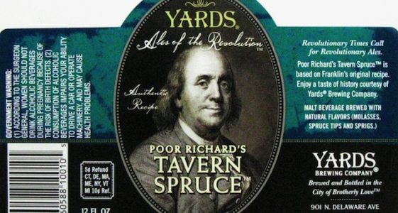 Yards Pour Richards Tavern Spruce