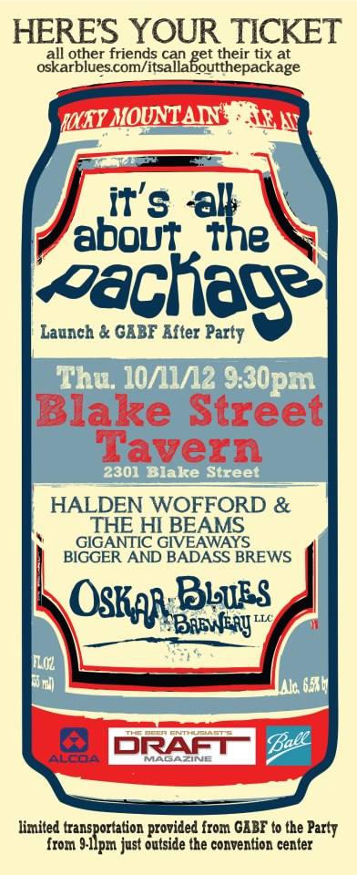 "GABF Event: Oskar Blues - ""It's All About The Package ..."