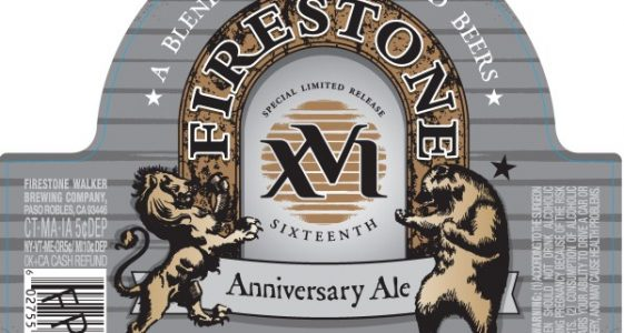 Firestone Walker XVI Anniversary Ale (Label)