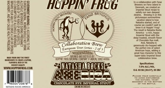 Hoppin Frog Natasha Rocks America