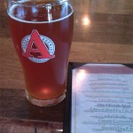 Avery Brewing - Taproom glass and menu