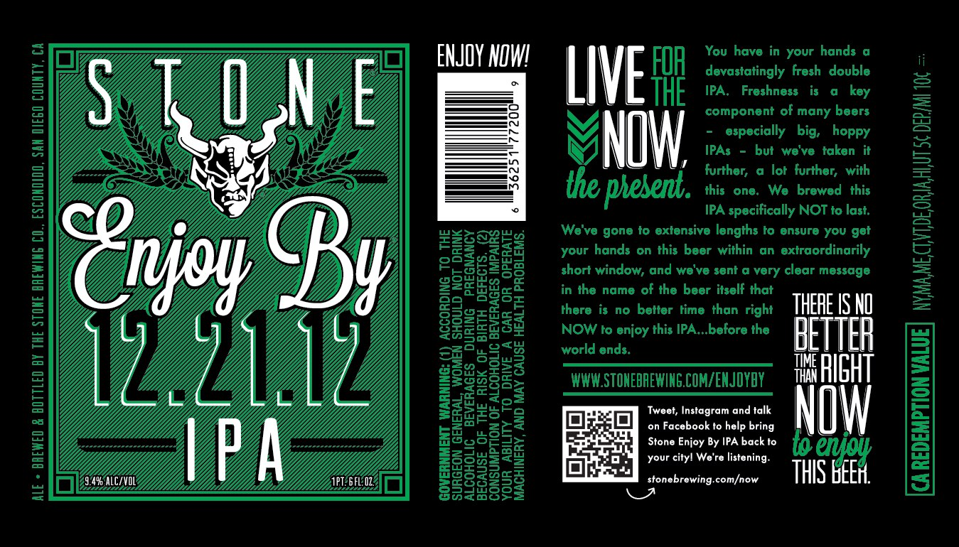 Celebrate The End Of The World With Stone Enjoy By 12 21