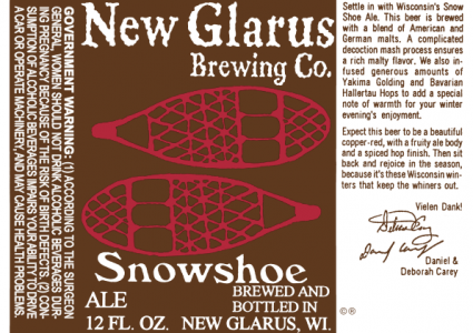 New Glarus Snow Shoe