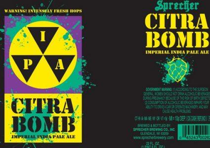 Sprecher Brewing - Citra Bomb Imperial IPA