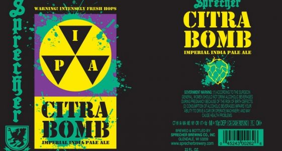 Sprecher Brewing - Citra Bomb Imperial IPA