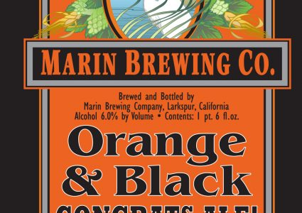 Marin Brewing Orange & Black Congrats Ale