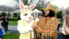 Macho Man Randy Savage and Easter Bunny