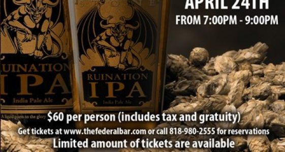 Stone Brewing Co. Beer Dinner At Federal Bar