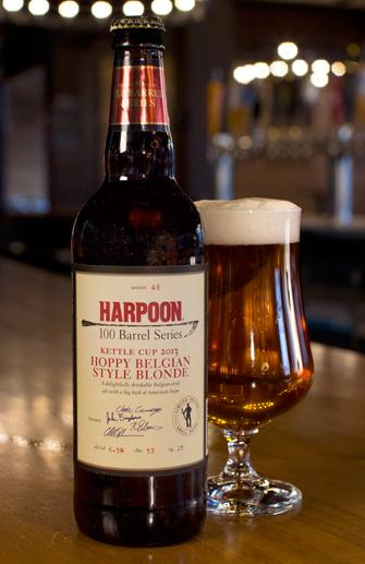 The Harpoon Brewery Releases 100 Barrel Series Hoppy Belgian Style Blonde