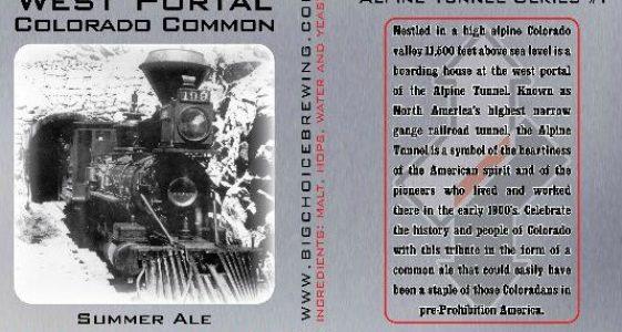 Big Choice West Portal Colorado Common Summer Ale