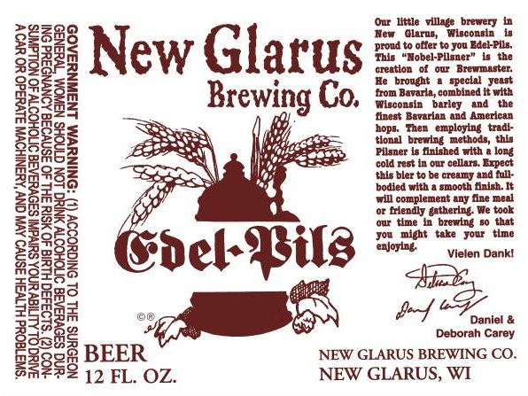 New Glarus Edel Pils