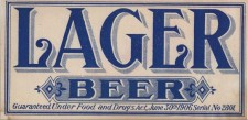 DC Historic Lager Label