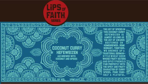 New Belgium Lips of Faith Coconut Curry Hefeweizen