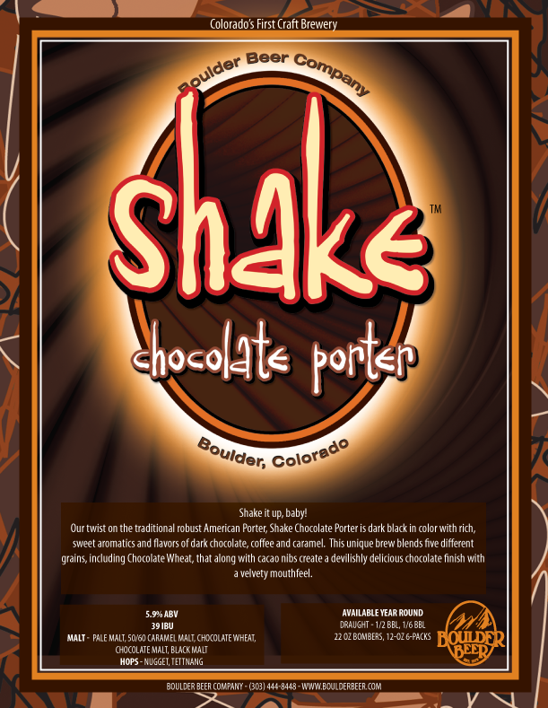 Boulder Beer Co. - Shake Chocolate Porter