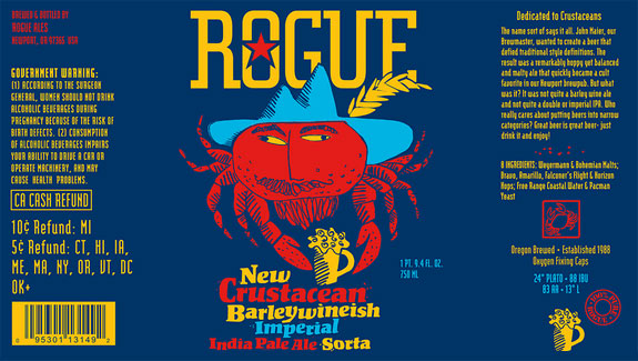 Rogue Introduces New Crustacean Barleywineish Imperial IPA • thefullpint.com