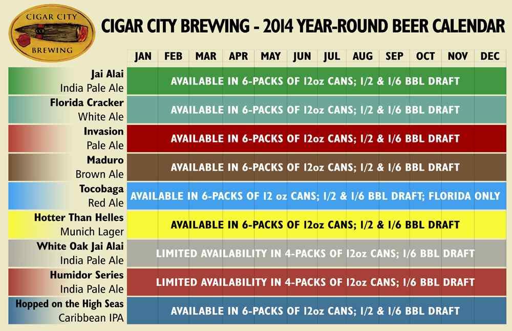 Cigar City Brewing - Year Round 2014