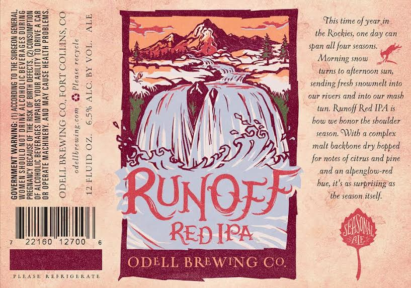 Odell Brewing - Runoff Red IPA (label)