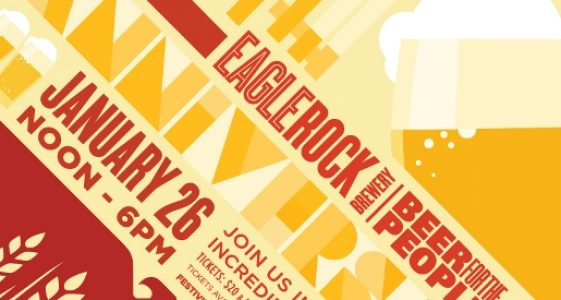 Eagle Rock Brewery 4th Anniversary Poster
